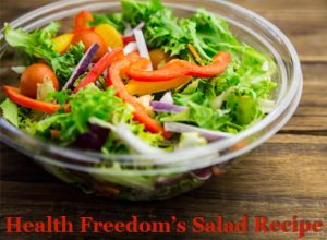 health freedom's salad recipe