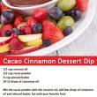 cacao cinnamon dessert dip