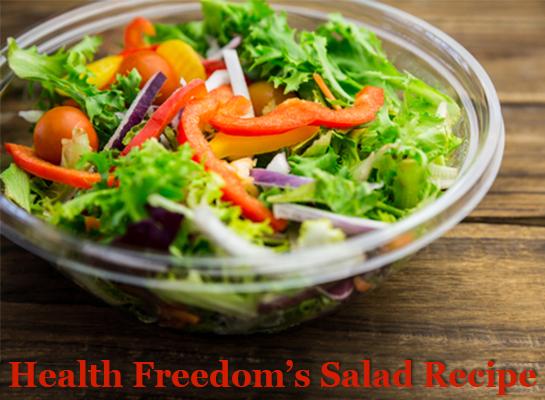 health freedom's salad recipe