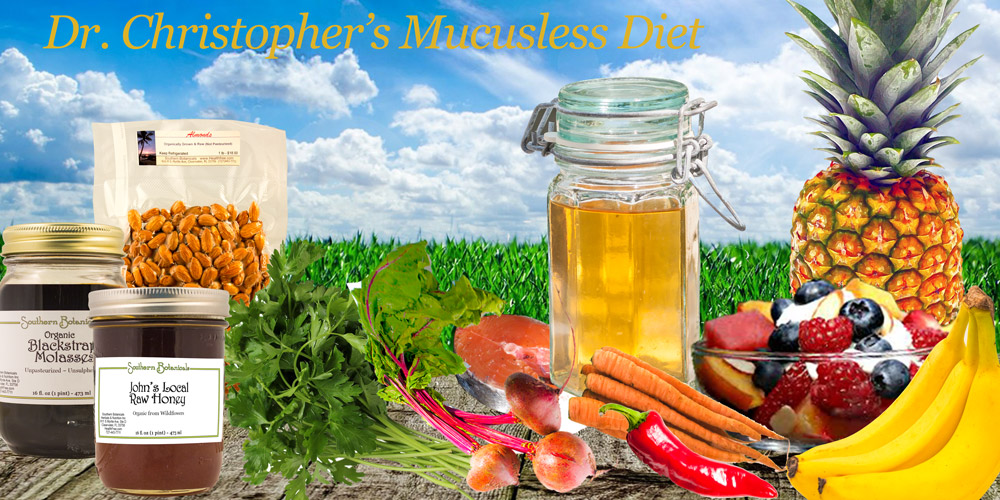 dr. christopher's mucusless diet foods