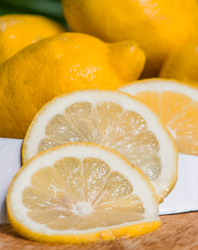 lemon slices and whole lemons