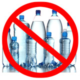 Avoid plastic water bottles