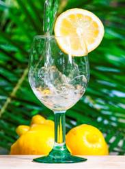 Drink pure water, plus lemon is even better for hydration.