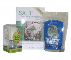Celtic Sea Salt® Package - Salt Your Way to Health, Ceramic Salt Mill, Light Gray Sea Salt