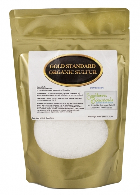 Organic Sulfur Crystals - Minimally processed MSM for Cellular Cleansing